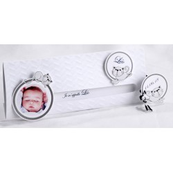 Faire-part naissance humoristique blanc coulissant chats - Faire Part Select En Route 89450