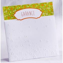 Faire-part naissance pochette classique blanche nature fleurs - Faire Part Select En Route 89461