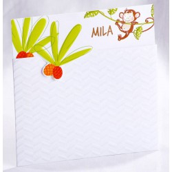 Faire-part naissance humoristique blanc animaux jungle - Faire Part Select En Route 89463