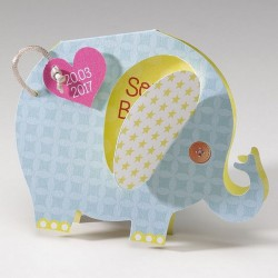 Faire-part naissance original forme elephant Belarto Happy Baby 715132