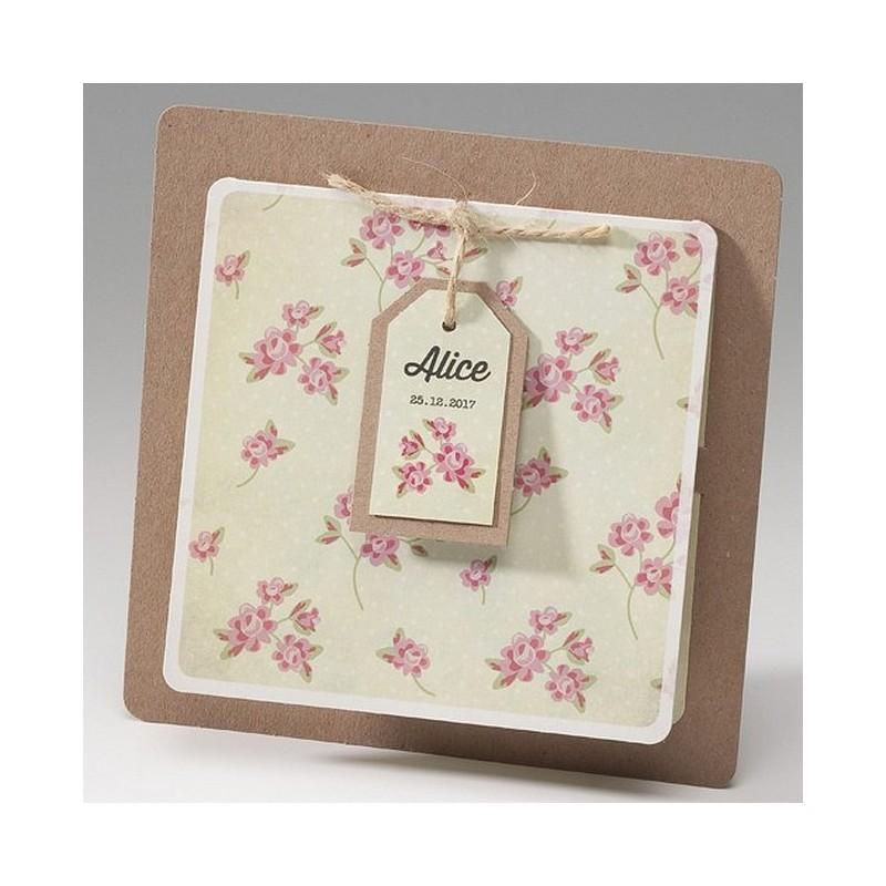 Bien-aimé part naissance fille vintage fleurs Belarto Happy Baby 715068 JS24