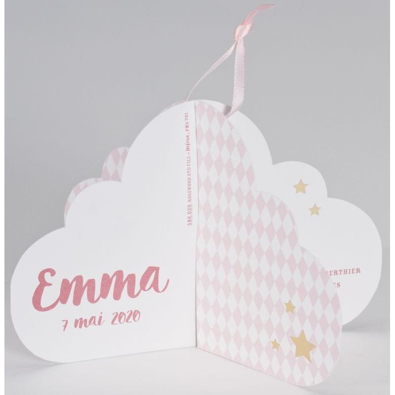 Extrêmement part naissance original 3D nuage rose pâle Buromac Baby Folly  IU53