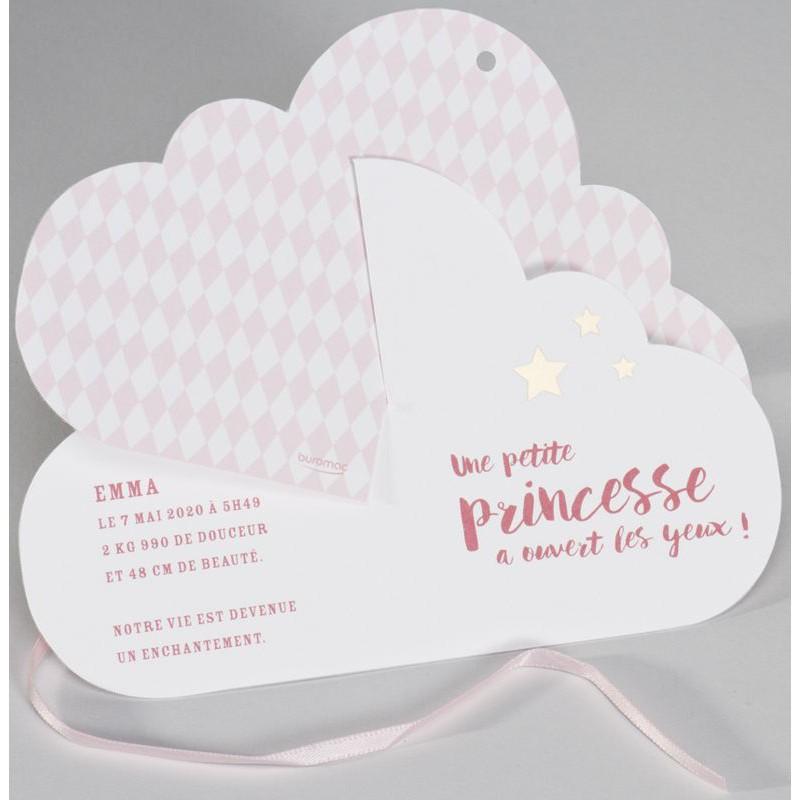 Exceptionnel part naissance original 3D nuage rose pâle Buromac Baby Folly  XO19