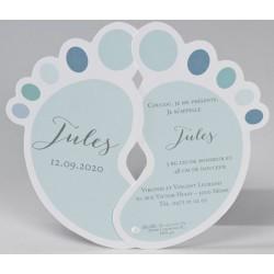 Faire-part naissance original pieds bleus Buromac Baby Folly (2016) 586.086