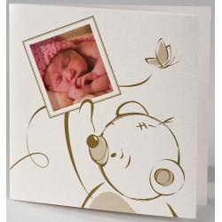 Faire-part naissance original irisé peluche beige Buromac Baby Folly (2016) 586.085