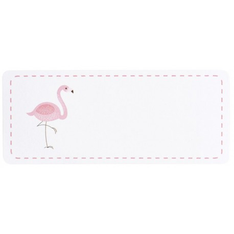 Etiquettes adresses flamant rose BUROMAC Baby Folly (2016) 576.208