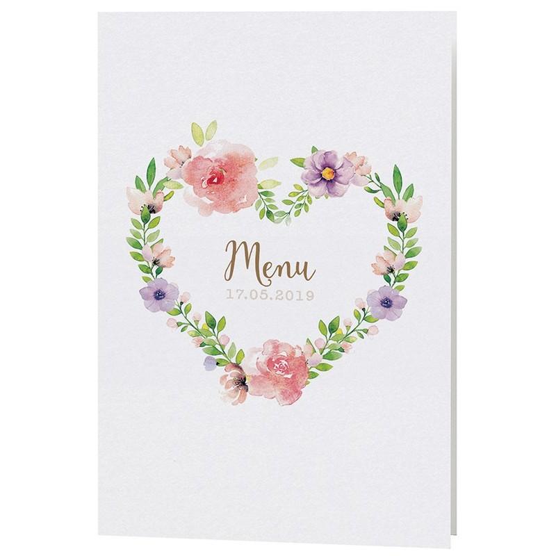 menu mariage chic nature fleurs aquarelle belarto bohemian wedding 727636. Black Bedroom Furniture Sets. Home Design Ideas
