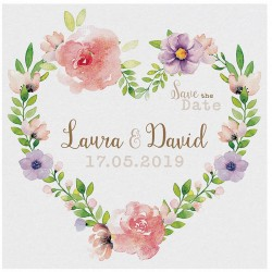 Carte lunch ou remerciements vintage fleurs aquarelle Belarto Bohemian Wedding 727536