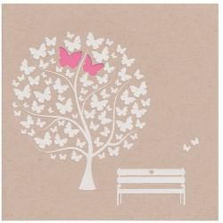 Faire part mariage élégant nature arbre papillons Belarto Bohemian Wedding 727040