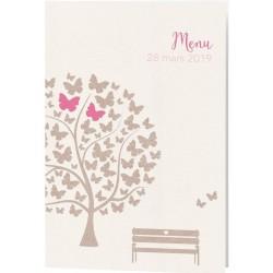 Menu Mariage nature arbre papillons Belarto Bohemian Wedding 727640