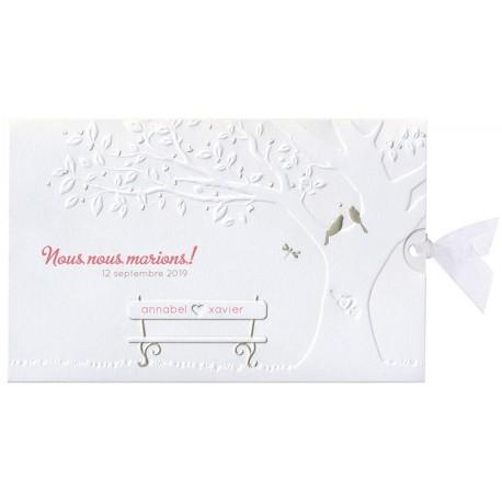 Faire-part mariage poétique original nature gaufrage dorure Belarto  Bohemian Wedding 727012 60561dc2e2361