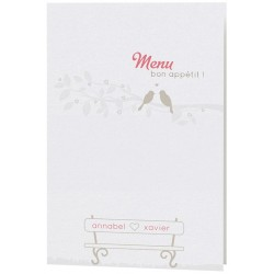 Menu Mariage poétique sobre arabesques Belarto Bohemian Wedding 727612