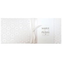 Faire part mariage élégant crème arabesque encre de suède Belarto Bohemian Wedding 727035