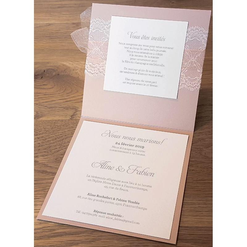 faire part mariage vintage ruban dentelle belarto bohemian wedding 727021. Black Bedroom Furniture Sets. Home Design Ideas
