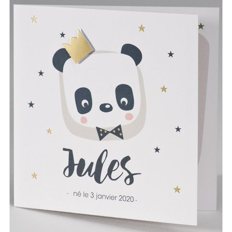 Bien-aimé part naissance panda roi couronne dorée BUROMAC Pirouette 2017 507.008 QG68