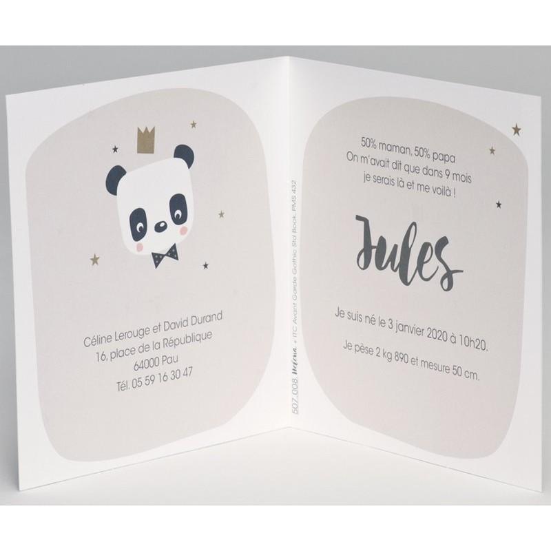 Extrêmement part naissance panda roi couronne dorée BUROMAC Pirouette 2017 507.008 UN94