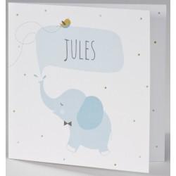 Faire-part naissance humoristique éléphant bleu BUROMAC Pirouette 2017 507.132