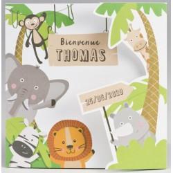 Faire-part naissance humoristique original animaux de la jungle BUROMAC Pirouette 2017 507.087