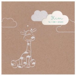 Faire-part de naissance tendance papier kraft girafe Belarto Welcome Wonder 717002