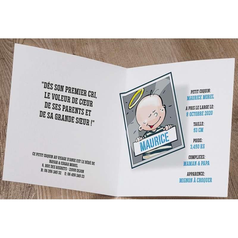 Souvent part naissance humoristique bébé échappée belle Belarto Welcome  ML72