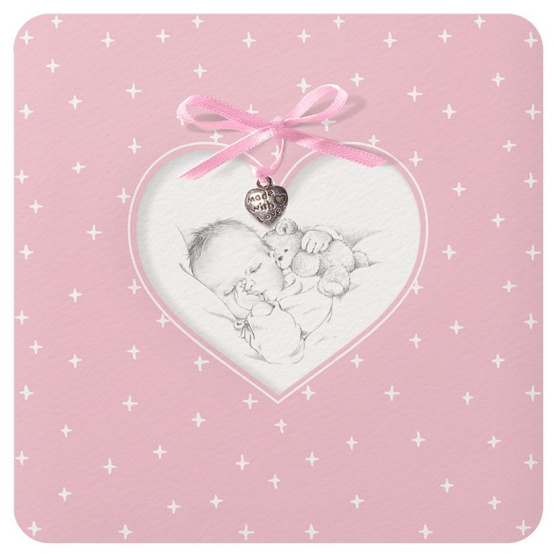 faire part naissance classique rose coeur b b belarto welcome wonder 717022. Black Bedroom Furniture Sets. Home Design Ideas