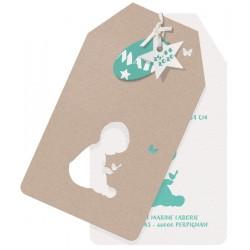 Faire-part naissance chic papier recyclé silhouette Belarto Welcome Wonder 717040