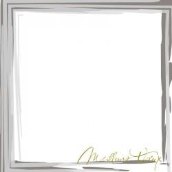 Carte de Voeux classique cadre peinture gris argenture Faire Part Select BTB151