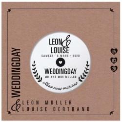 Faire part mariage originale disque style vinyle Belarto Yes We Do ! 728018-W