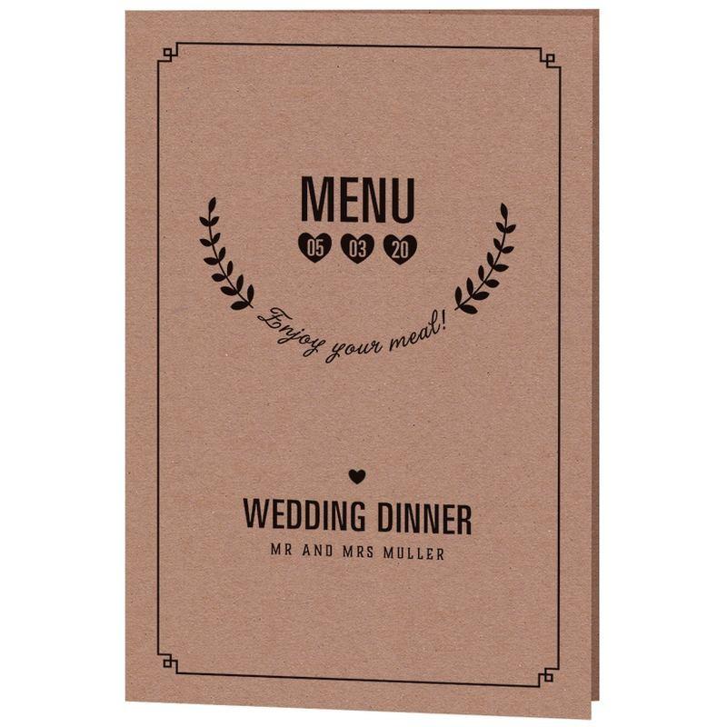 menu mariage papier kraft vintage belarto yes we do 728618. Black Bedroom Furniture Sets. Home Design Ideas