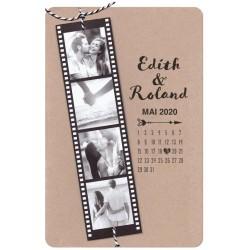 Faire part mariage original pellicule cinéma Belarto Yes We Do ! 728003-W