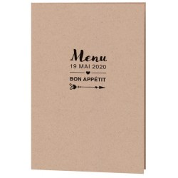 Menu mariage moderne papier kraft Belarto Yes We Do ! 728603