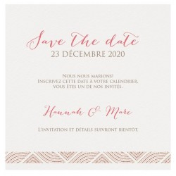 Carte lunch ou remerciements chic crème motifs roses bronze Belarto Yes We Do ! 728523