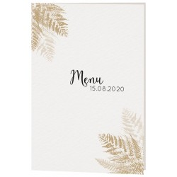 Menu mariage chic nature feuillages bronze Belarto Yes We Do ! 728609