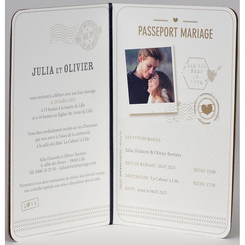 faire part mariage pochette papillon gris dorure argent buromac 102059. Black Bedroom Furniture Sets. Home Design Ideas
