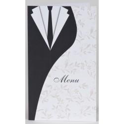 Menu mariage original costume robe mariés BUROMAC Papillons 2018 208.055