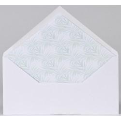 Enveloppe blanche doublée feuillage aquarelle Buromac Papillons 2018 90.907-p