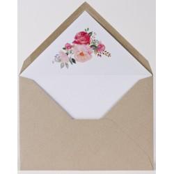 Enveloppe kraft doublée fleurs aquarelle Buromac Papillons 2018 90.912-p