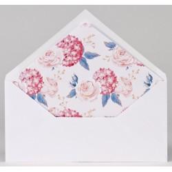 Enveloppe blanche doublée fleurs vintage Buromac Papillons 2018 90.917-p
