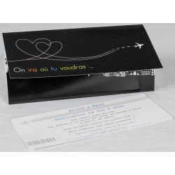 Faire part mariage original billet avion faire part select Romance 49610