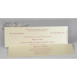 Faire-part mariage élégant pochette transparente faire part select Romance 49621