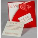 Faire-part mariage chic pochette rouge Faire Part Select Romance 49648
