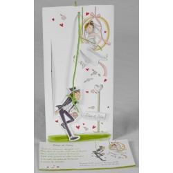 Faire-part mariage humoristique coulissant Faire Part Select Romance 49656