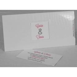 Faire-part mariage tendance pochette blanc Faire Part Select Romance 49671
