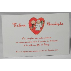 Carte lunch ou remerciements dessin enfantin Faire Part Select Romance 59663