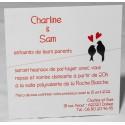 Carte lunch ou remerciements romantique oiseaux amoureux Faire Part Select Romance 59609