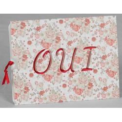 Faire part mariage vintage chic pochette fleurie Oui Faire Part Select Romance 49629