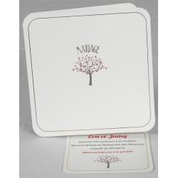 Faire part mariage élégant nature arbre coeurs Faire Part Select Romance 49659