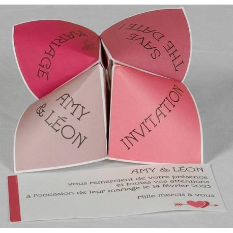Faire Part Mariage Original Ludique Cocotte En Papier Rouge