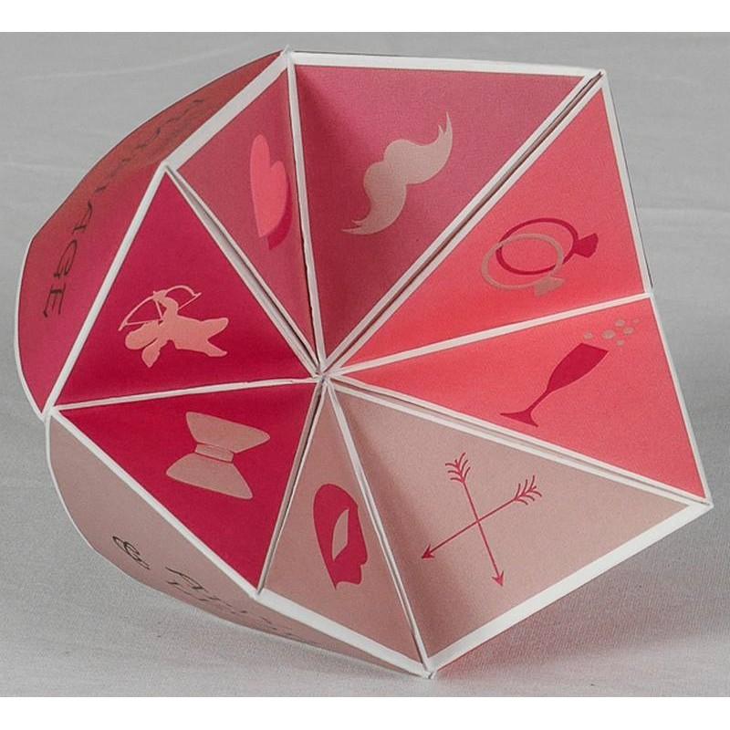 faire part mariage original ludique cocotte en papier rouge romance 49666