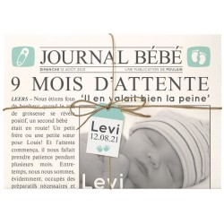 Faire-part naissance original journal personnalisable Belarto Hello World 2018 718020